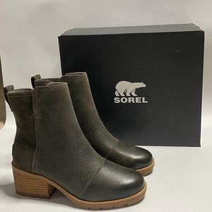 Sorel Cate Womens Ankle Block Heel Boots